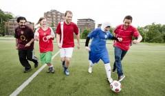 audun spiller fotball